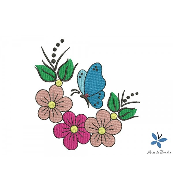Free design Butterflies and Flowers 003