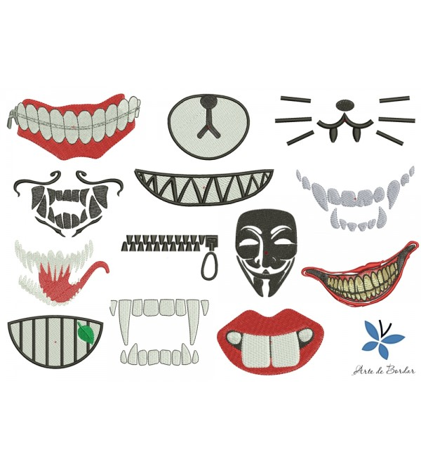 Designs for fabric mask 001