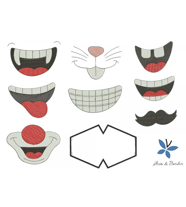 Designs for fabric mask 002