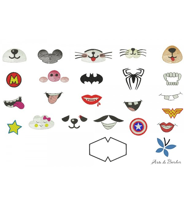Designs for fabric mask 003