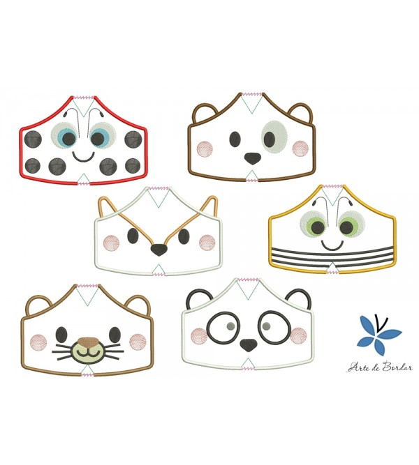 Designs for fabric mask 007