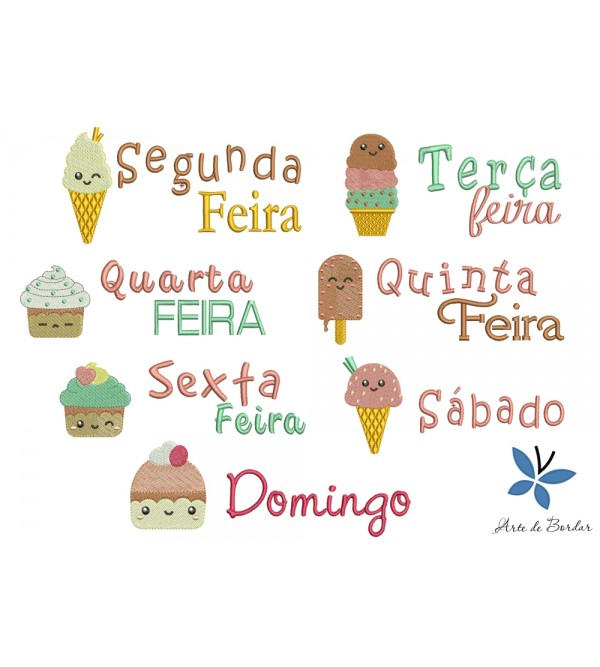 Days of the week ice cream 001