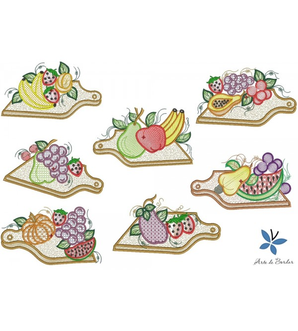 Days of the week fruit wooden board 001