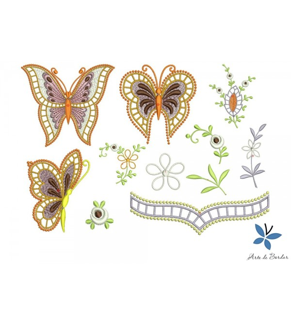 Butterflies and Flowers 008