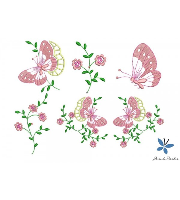 Butterflies and Flowers 010
